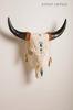 Divine Bovine Native Carved Skull