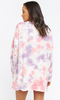 Sunday Sweatshirt Dress- Candy Tie Dye