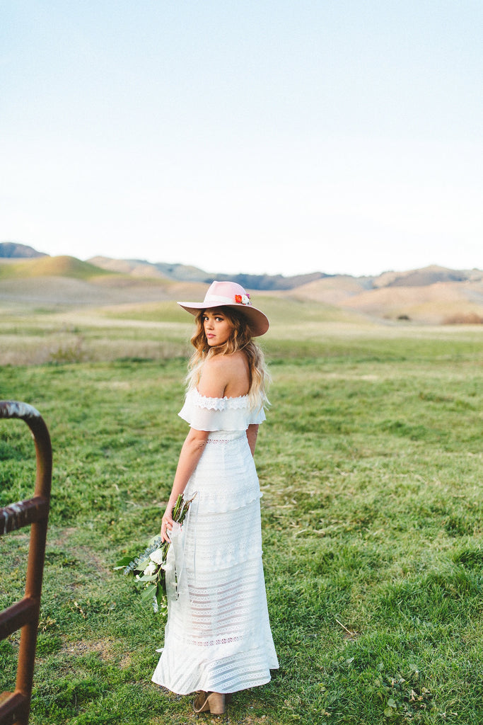 Lace Off-the-Shoulder Maxi