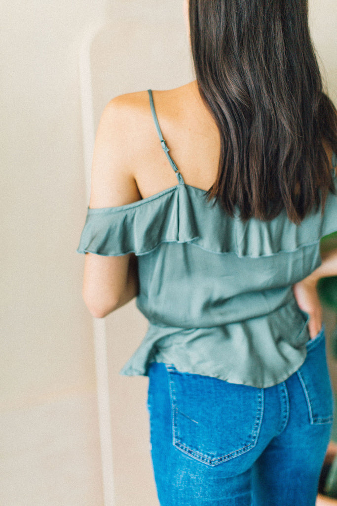 Atlas Cold Shoulder Top