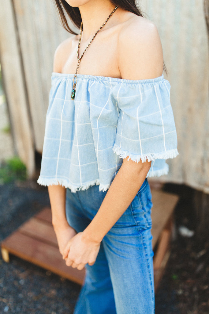 Turner Denim Crop Top