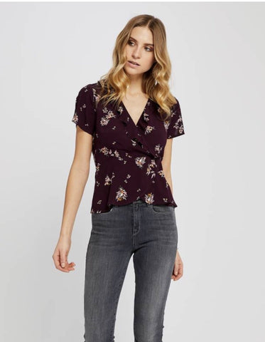 Floral Open-Back Top