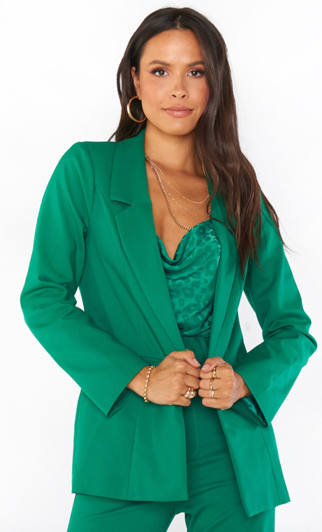 Show Me Your Mumu Major Blazer- Green