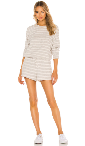 Show Me Your Mumu Sittin Around Set- Snuggle Stripe Knit