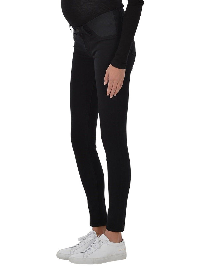 Black maternity skinny jeans denim