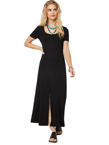 Slit Front Midi Dresses Fifteen Twenty XS Black