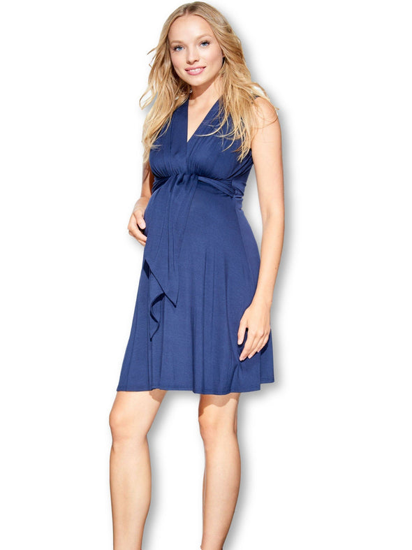 cobalt maternity nursing tank dress