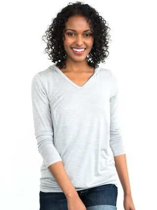 Natalie Nursing Hoodie- Heather Grey