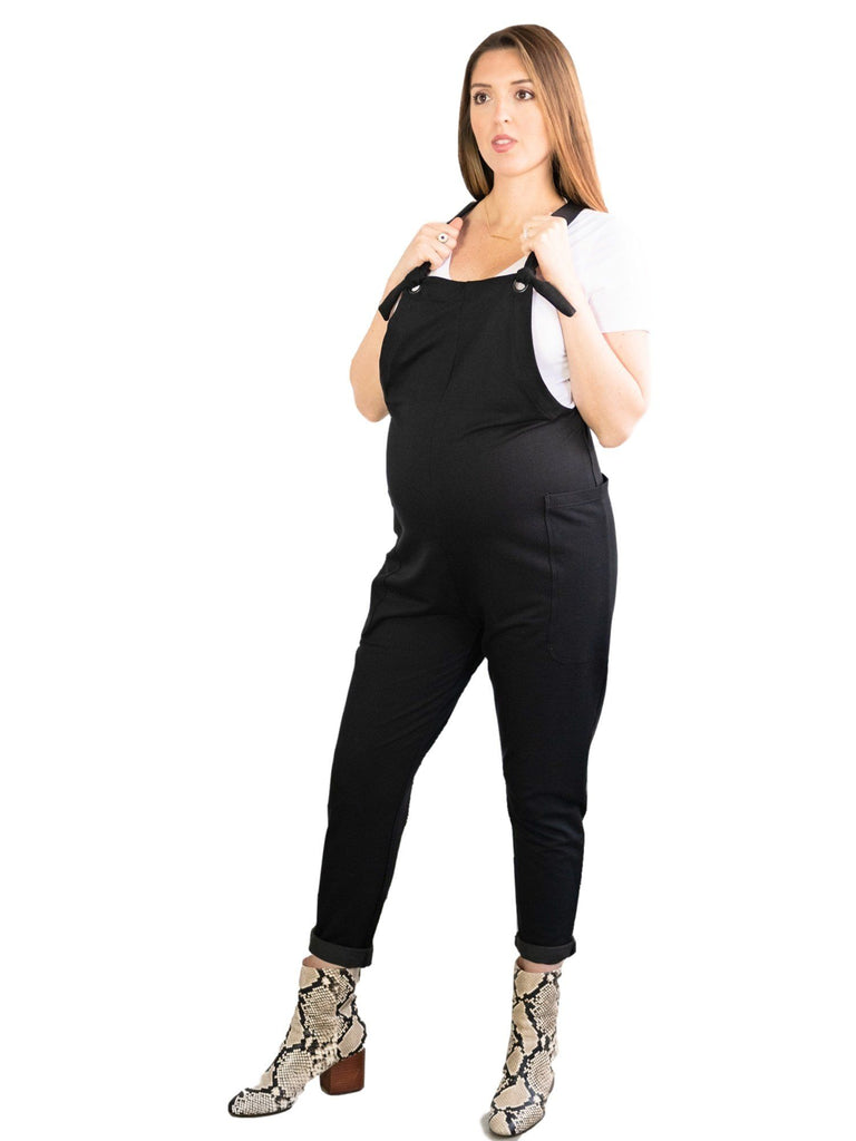 Perry St Jumpsuit Mom's the Word XS Black