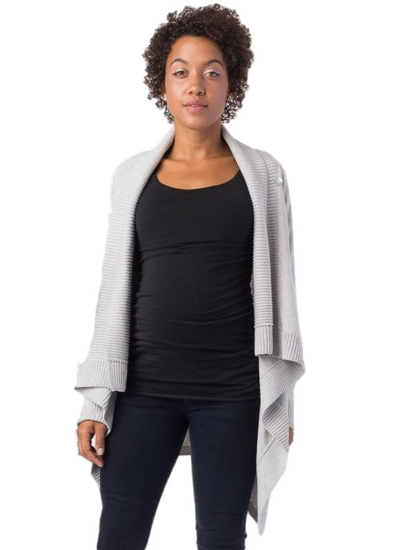 Denise Cashmere Blend Cardigan Tops Seraphine L grey