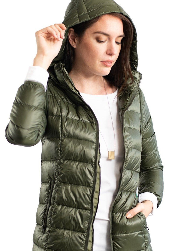 Ashley 3 in 1 Puffer Jacket Tops modern eternity Olive S