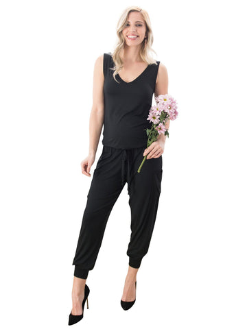 Hudson Jumpsuit by alex & harry, black maternity jumpsuit for pregnancy that's not maternity .Crowd favorite.