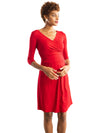 Dorit Nursing Dress- Ruby Red