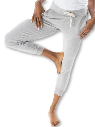 heather grey maternity jogger pant