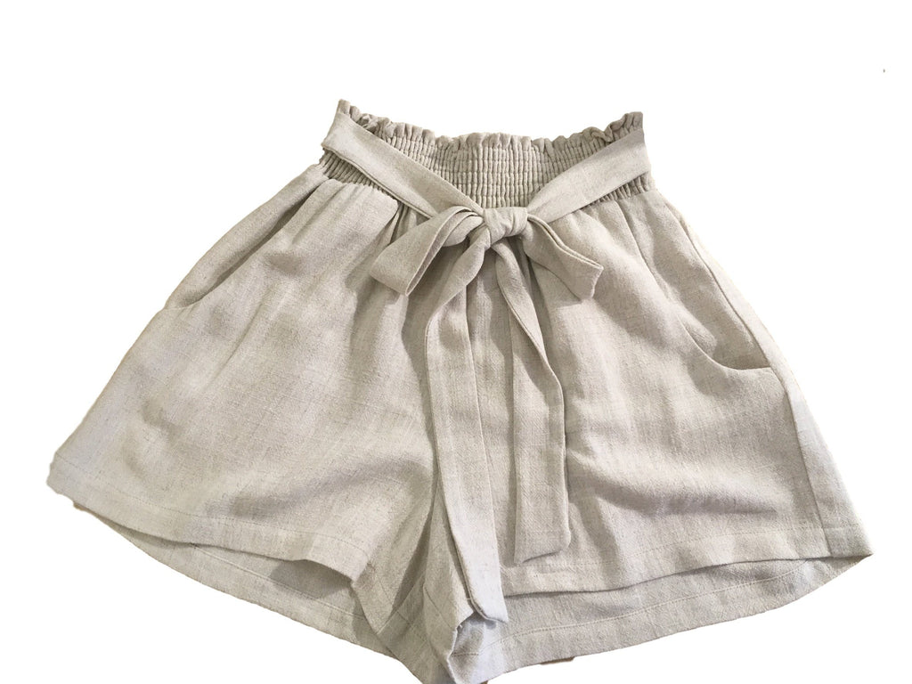Jen Linen Shorts Bottoms Mom's the Word
