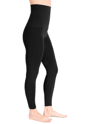 black post partum spanx leggings
