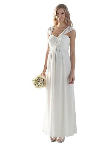 white maternity formal wedding gown
