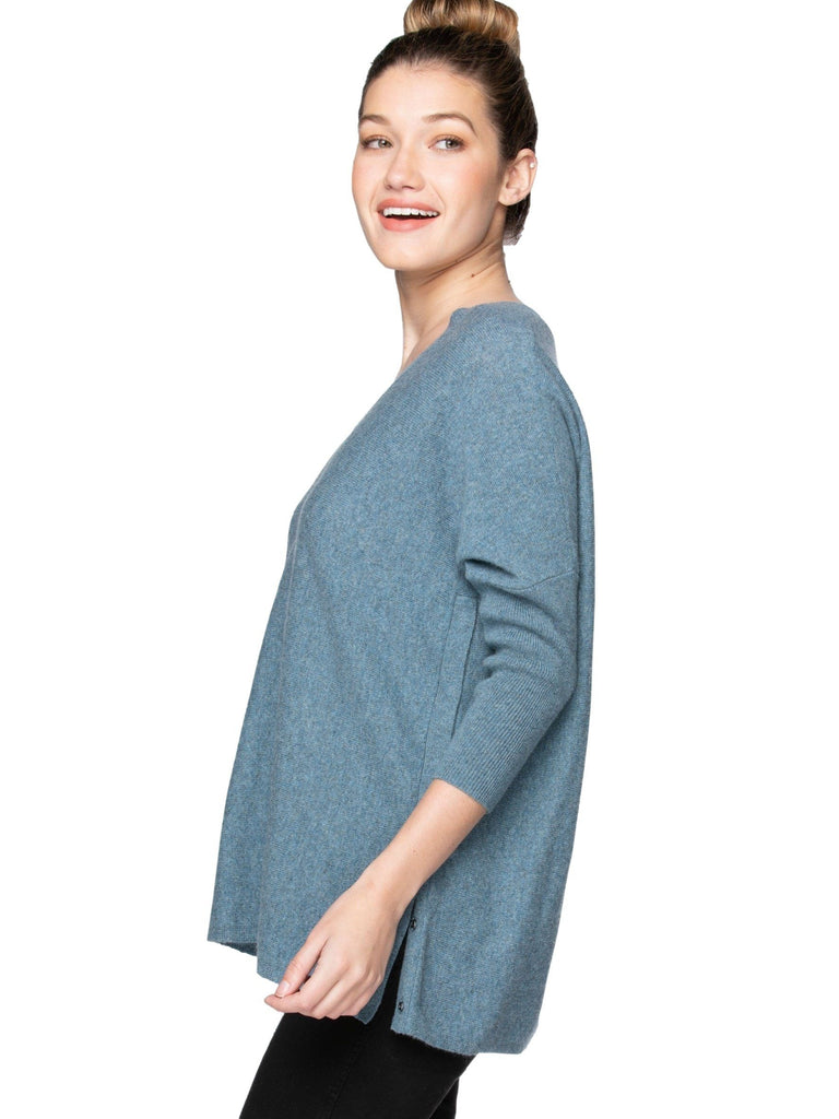 Cashmere Side Snap Top