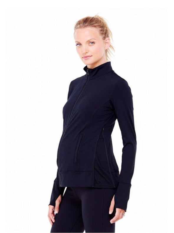black maternity work out jacket
