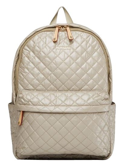 Quilted Metro Backpack- Atmospheric Metal