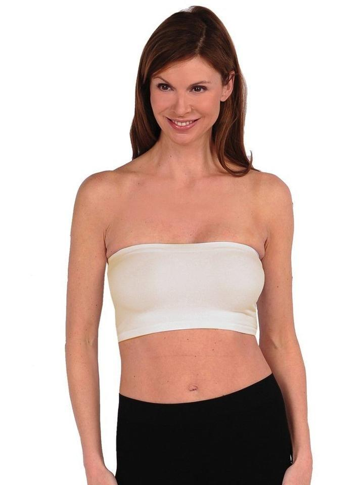 Layering Bandeau Intimates Tees by Tina one size cream