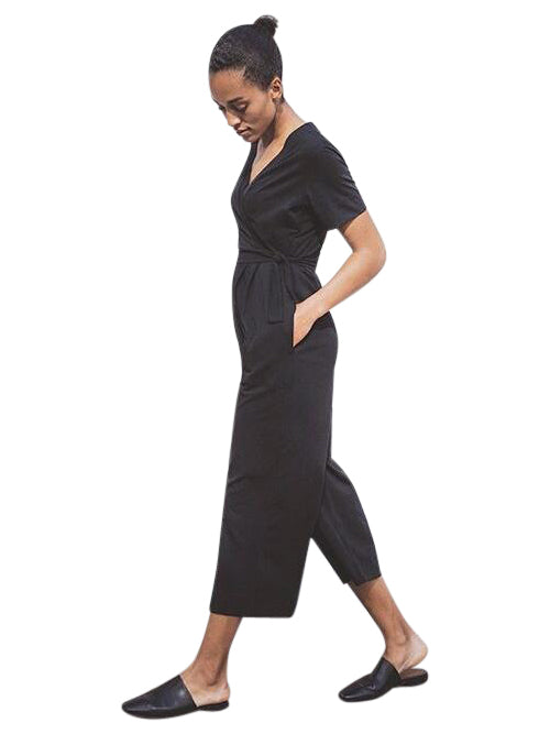 black maternity nursing jumpsuit