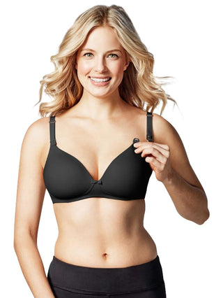 black nursing maternity bra