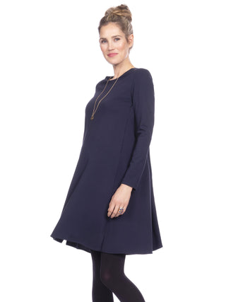 Camellia Swing Nursing Dress- Navy