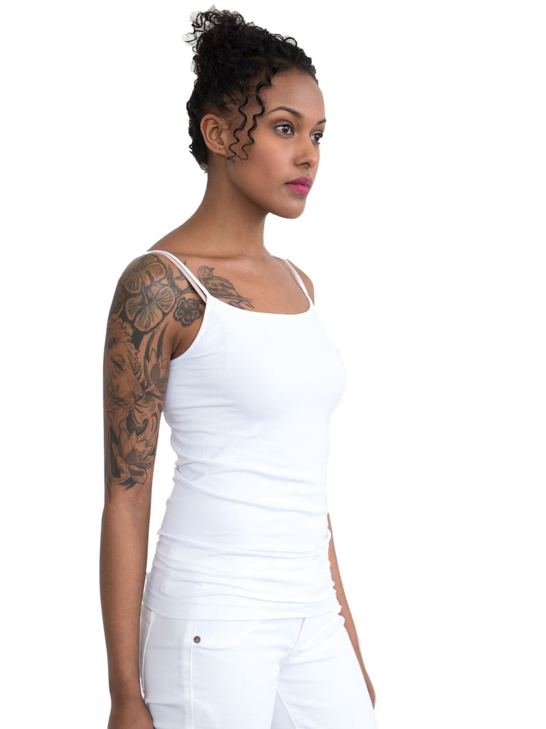MOM Cami Intimates Mom's the Word white one size  MOM Cami Intimates Mom's the Word crisp white one size  super soft super long super stretchy camisole perfect for pregnancy and beyond