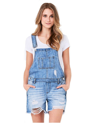 Carly Short Overall- Pale Blue
