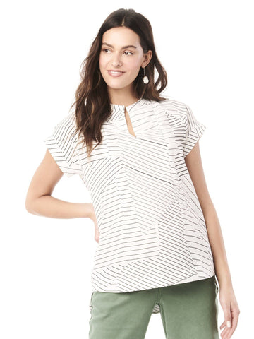 Carrie Nursing Top Tops Loyal Hana XS Black/White Stripe