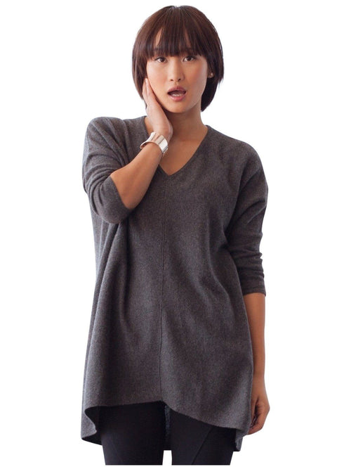 grey maternity cashmere sweater tunic