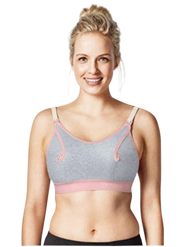 light grey nursing maternity bra