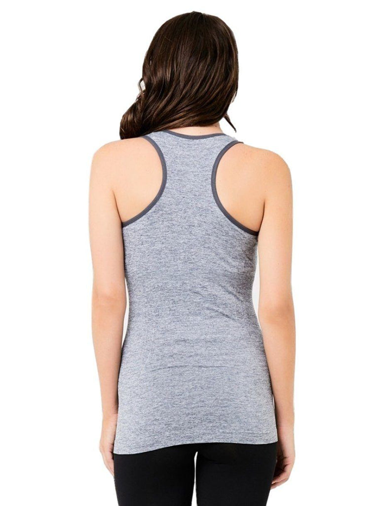 Grey maternity work out tank
