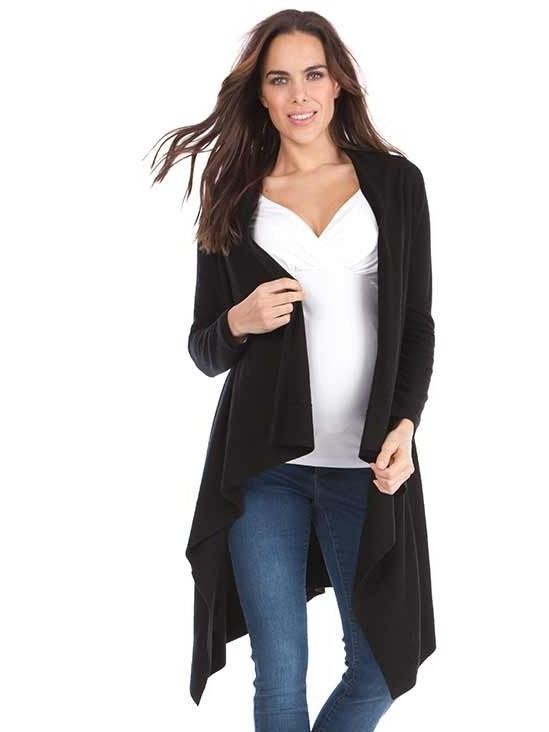 Denise Cashmere Blend Cardigan Tops Seraphine S Black