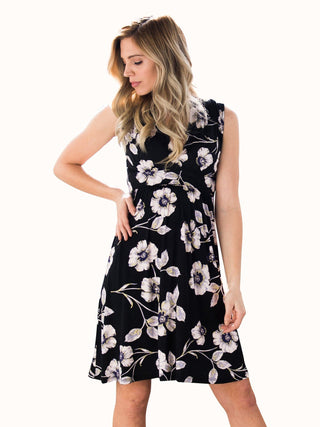 floral maternity nursing tank dress