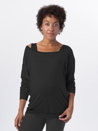 black nursing maternity top