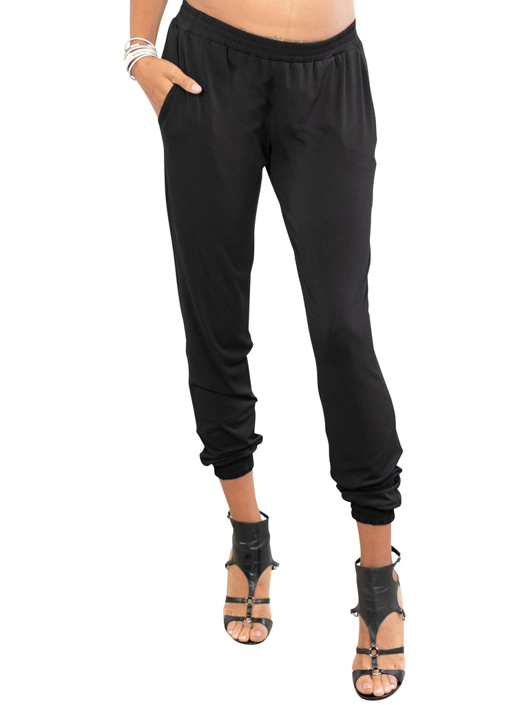 Dressed Jogger Bottoms Mom's the Word XS Black Moss