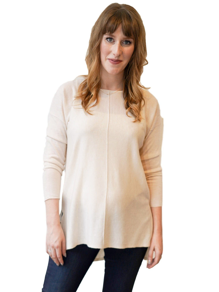 Eaton Sweater Tops mom fave S/M Ivory