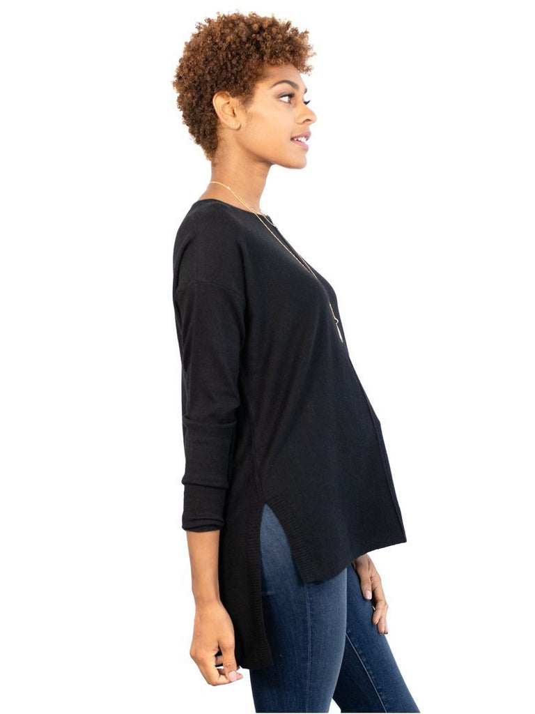 Eaton Sweater Tops mom fave S/M Black