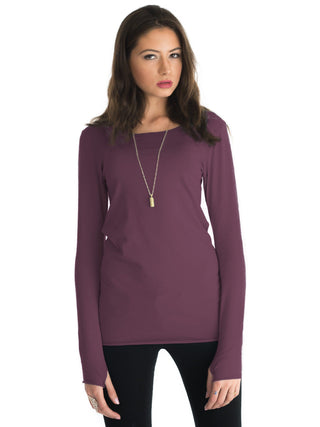 Essential Long Sleeve- Mahogany
