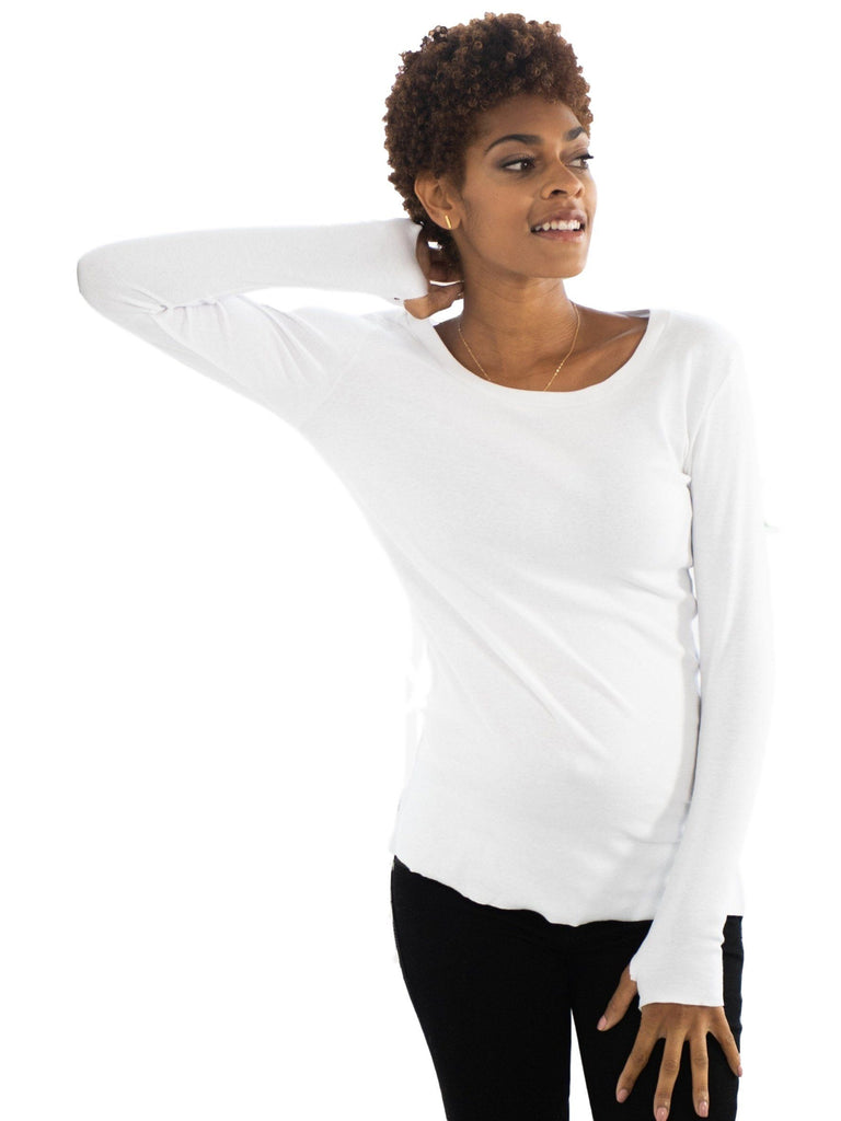 white long sleeve maternity cotton shirt