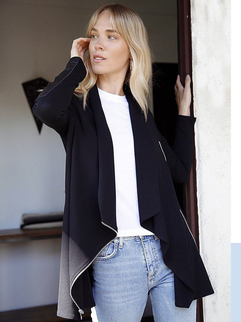 not maternity leather patch jacket beloved by pregnant women