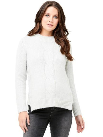 Tullamore Cable Sweater - Nursing Tops Ripe XS Snow