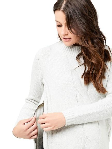 Tullamore Cable Sweater - Nursing Tops Ripe