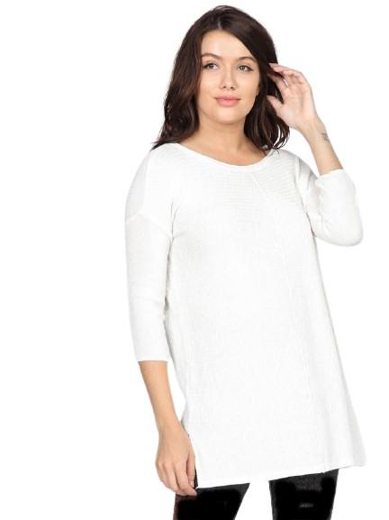 Easton Knit Top Tops mom fave S Off White