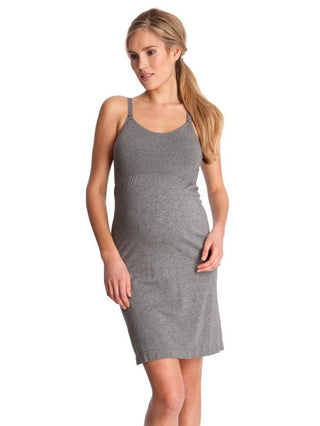 grey maternity nursing nightgown