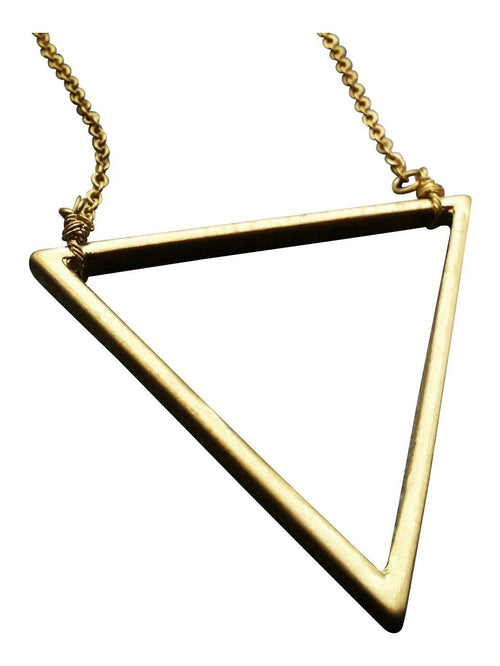 Open Brass Triangle Pendant