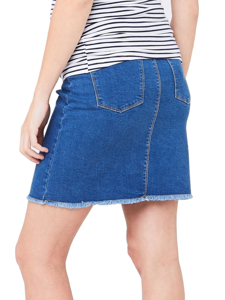 Isla Denim Maternity Skirt