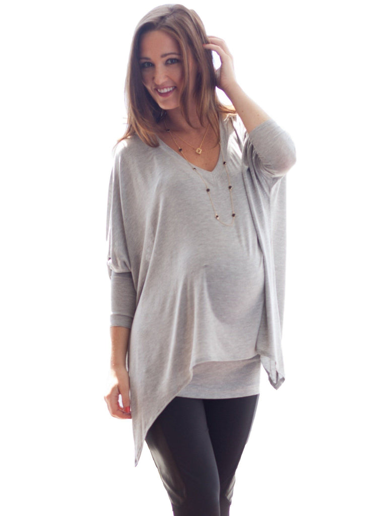Jil 2 Piece Top Tops alex & harry one size Silver  Nursing Top for all seasons.